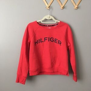 Tommy Hilfiger Spellout Red Crewneck Sweatshirt